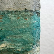 Strandlandschaft - Detail vergilbter Firnis