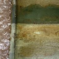 Scharlott - Detail Vorzustand vergilbter Firnis