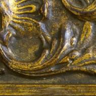 Detail nach Bronzeauftrag