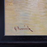 Vorzustand Detail Signatur